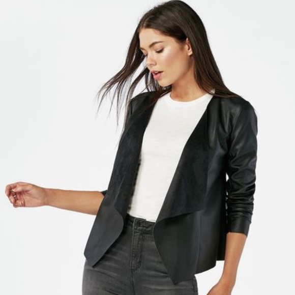 4f9097254d2 Waterfall faux leather jacket. Boutique. JustFab
